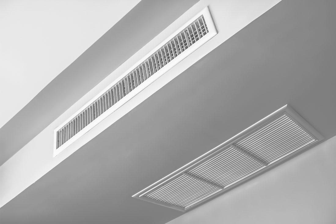 foto di un impianto di raffrescamento a soffitto
