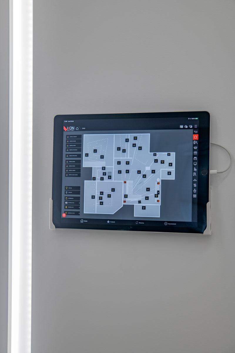 display impianto domotico