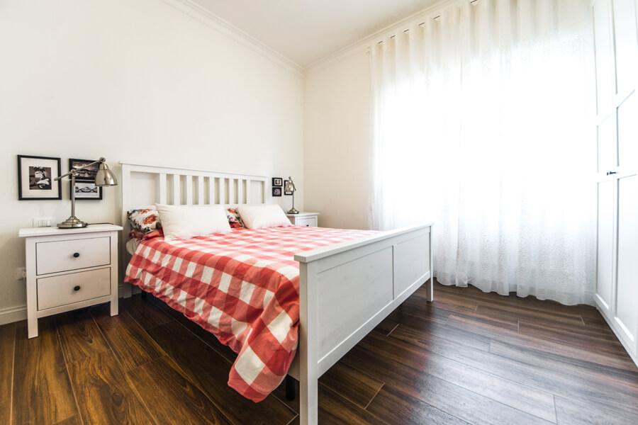 camera da letto ristrutturata a roma